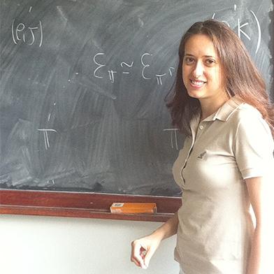 portrait Olivia Caramello, professeure de mathématique