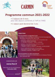 Programme Carmin 2021-2022