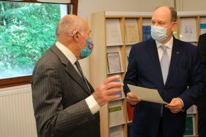 Visite de SAS le Prince Albert II de Monaco, 11 juin 2021, IHES